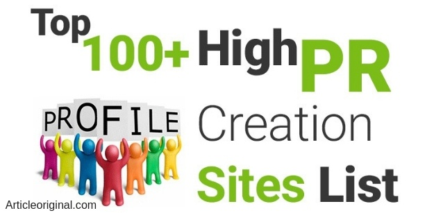 Top 100+ high DA Profile creation sites list