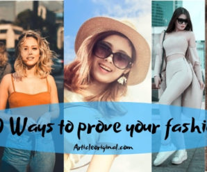 10 Ways to prove your fashion