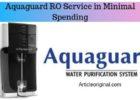 Aquaguard RO Service in Minimal Spending