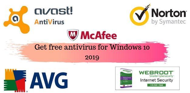 Get free antivirus for Windows 10 2019