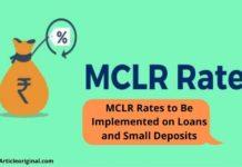 MCLR Rates