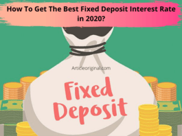 How To Get The Best Fixed Deposit Interest Rate in 2020