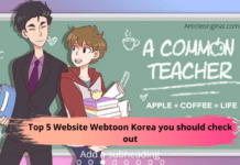 Top 5 Website Webtoon Korea you should check out
