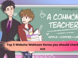 Top 5 Website Webtoon Korea you should check out